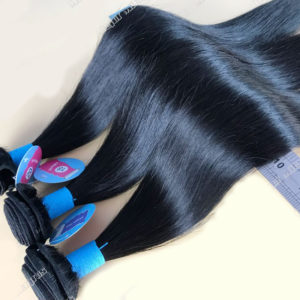 Celebrity straight silky human hair extensions