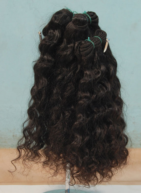 Indian-temple-Hair-machine-weft-100%-indian